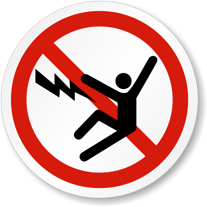 Electric clipart electrocuted. Shock symbol