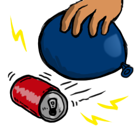 Electricity clipart static electricity. Roll a can with