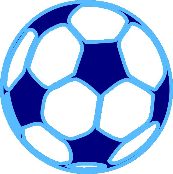 Blue soccer ball clip. Electric clipart equipment
