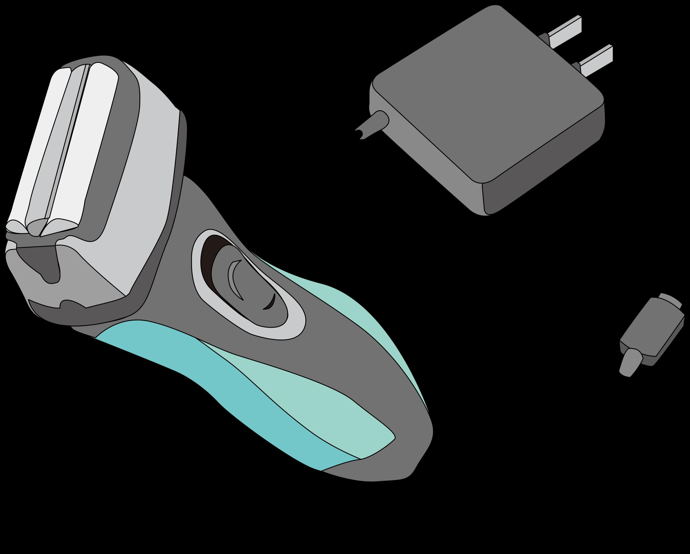 Electric clipart equipment. Shaver razor big image