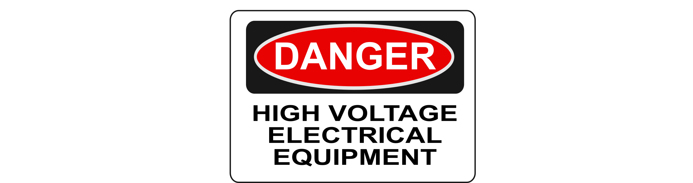 Electric clipart equipment. Danger high voltage electrical