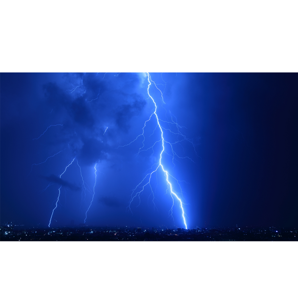 Night city lightning k. Electric clipart lighting storm