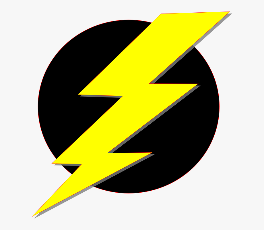 Electricity yellow storm . Electrical clipart lightning bolt