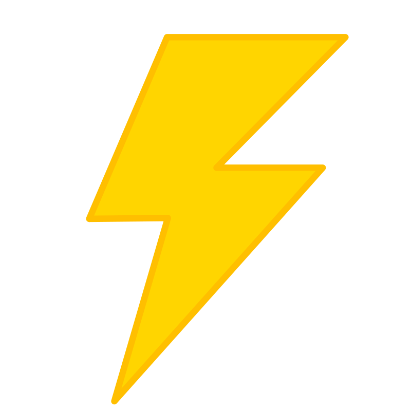 Yellow bolt free icons. Lightning clipart crossed