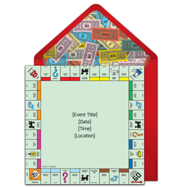 Game clipart monopoly board. Free classic invitations pinterest
