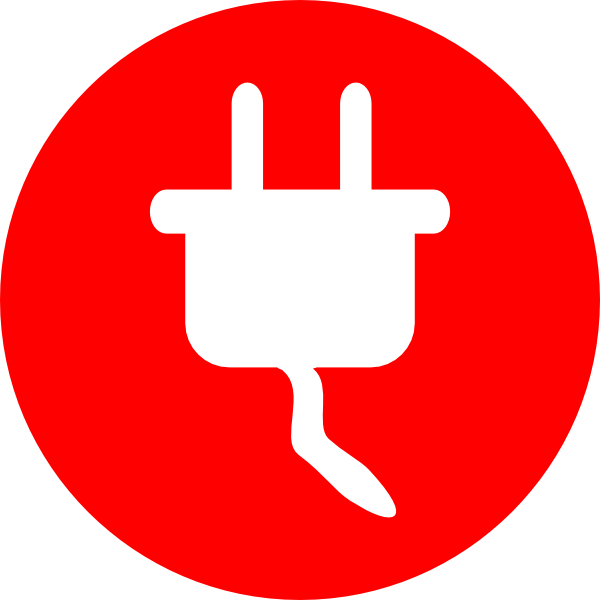 Electricity clipart plug. Electric power icon clip
