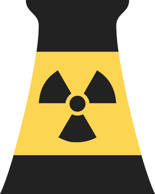 Nuclear power plant reactor. Technology clipart symbol