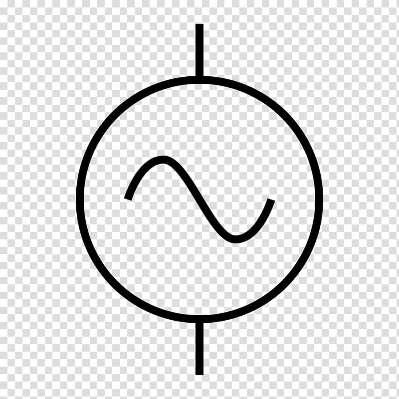 Electronic symbol alternating current. Electric clipart power source