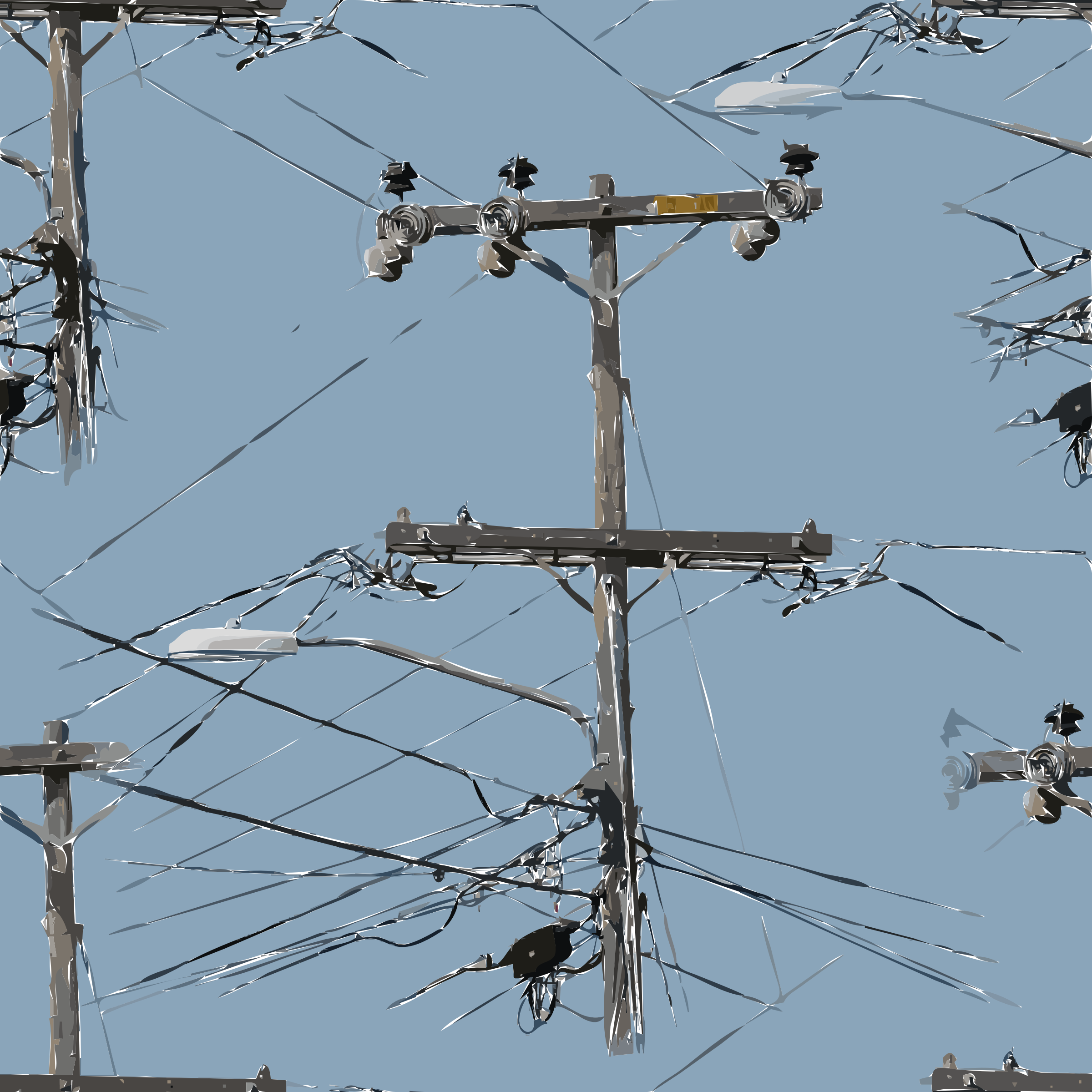Electrical clipart utility. Power lines big image