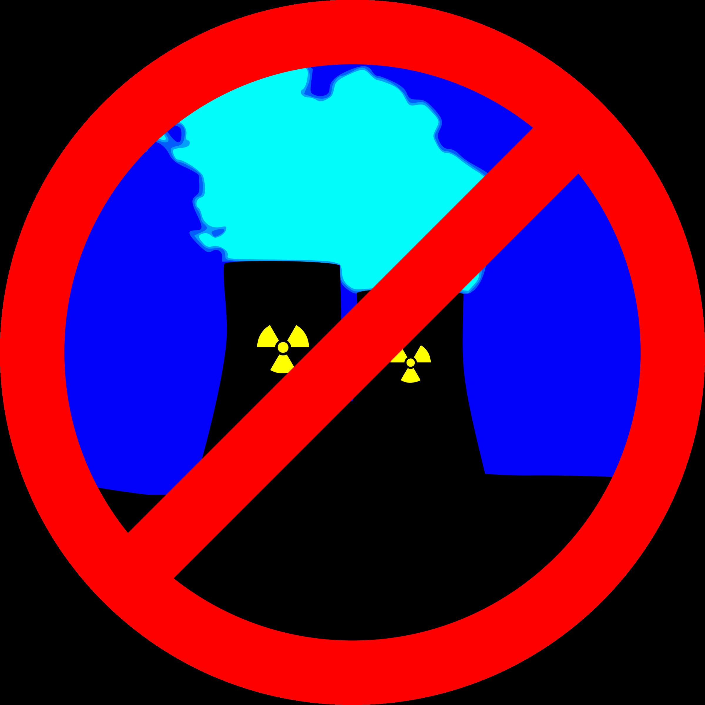 Nuclear power no thanks. Nuke clipart clip art
