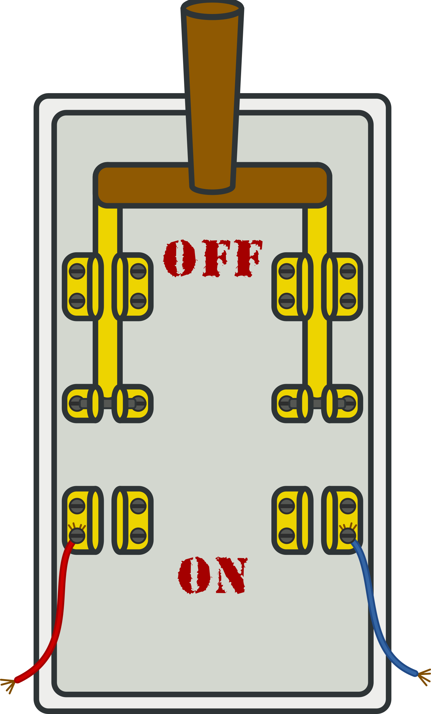 Knife switch off big. Electricity clipart cartoon
