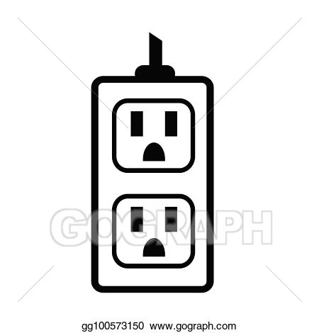 Electrical clipart receptacle. Eps vector outlet icon