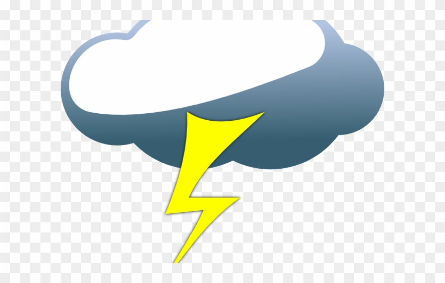 Cloud and lightning . Thunderstorm clipart electrical storm