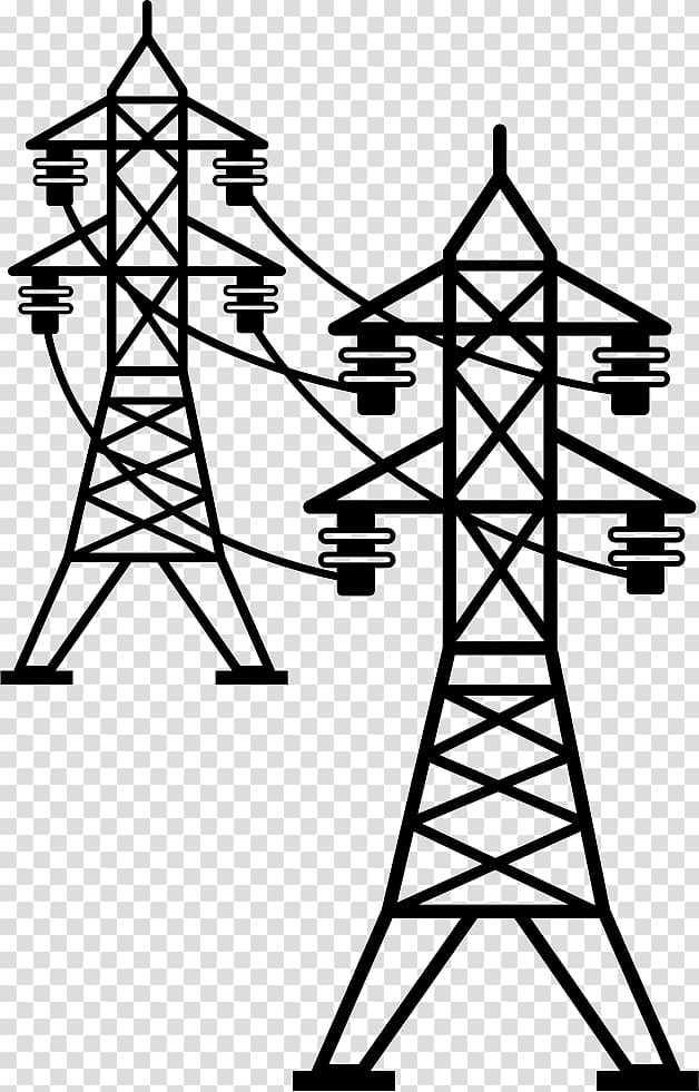 Electric power overhead . Tower clipart transmission line tower