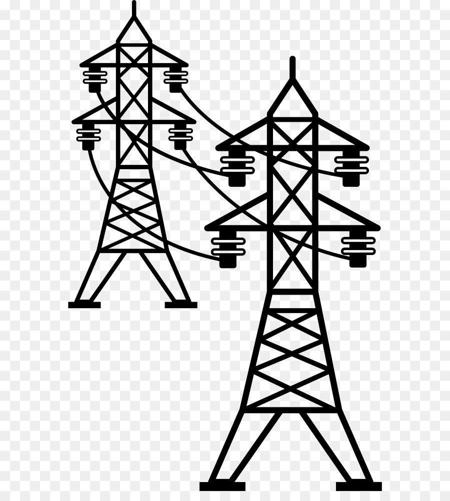 White tree electricity design. Tower clipart transmission line tower