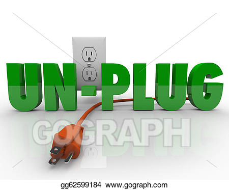 Electrical clipart unplugged. Stock illustrations unplug cord