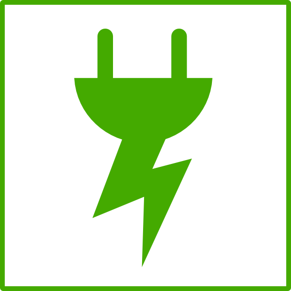 Green energy icon clip. Electricity clipart uses electricity