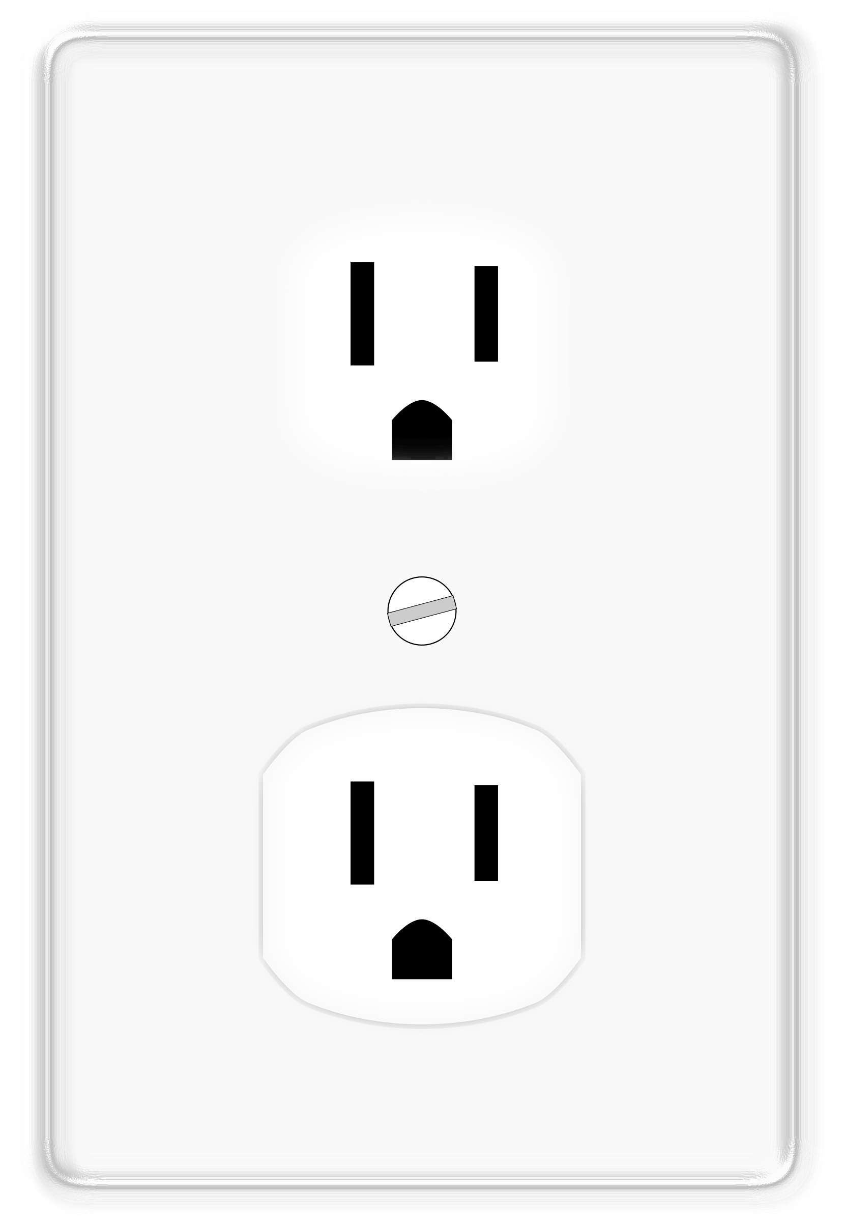 Electric clipart wall outlet. Duplex socket usa big