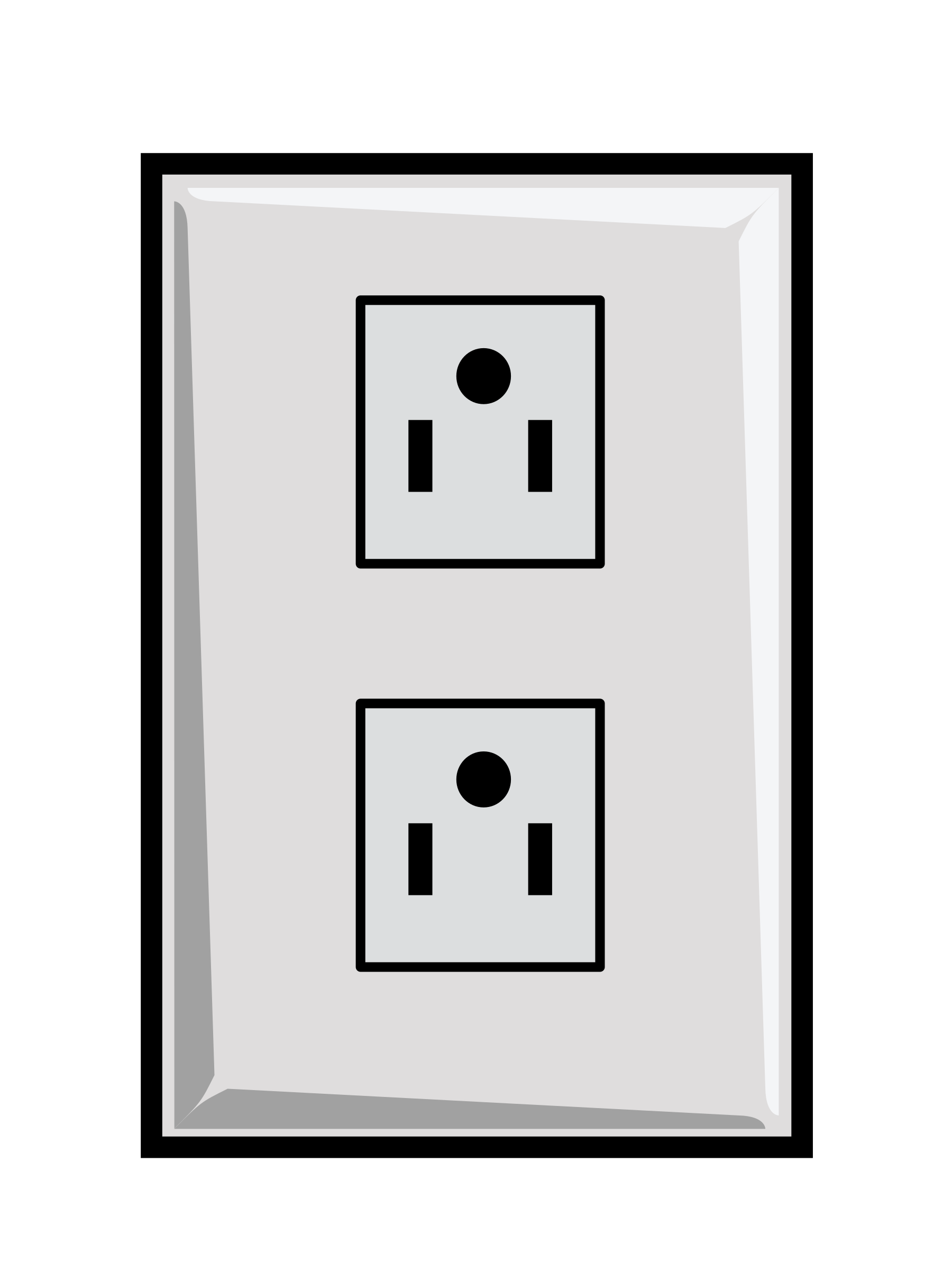 Power us big image. Electric clipart wall outlet