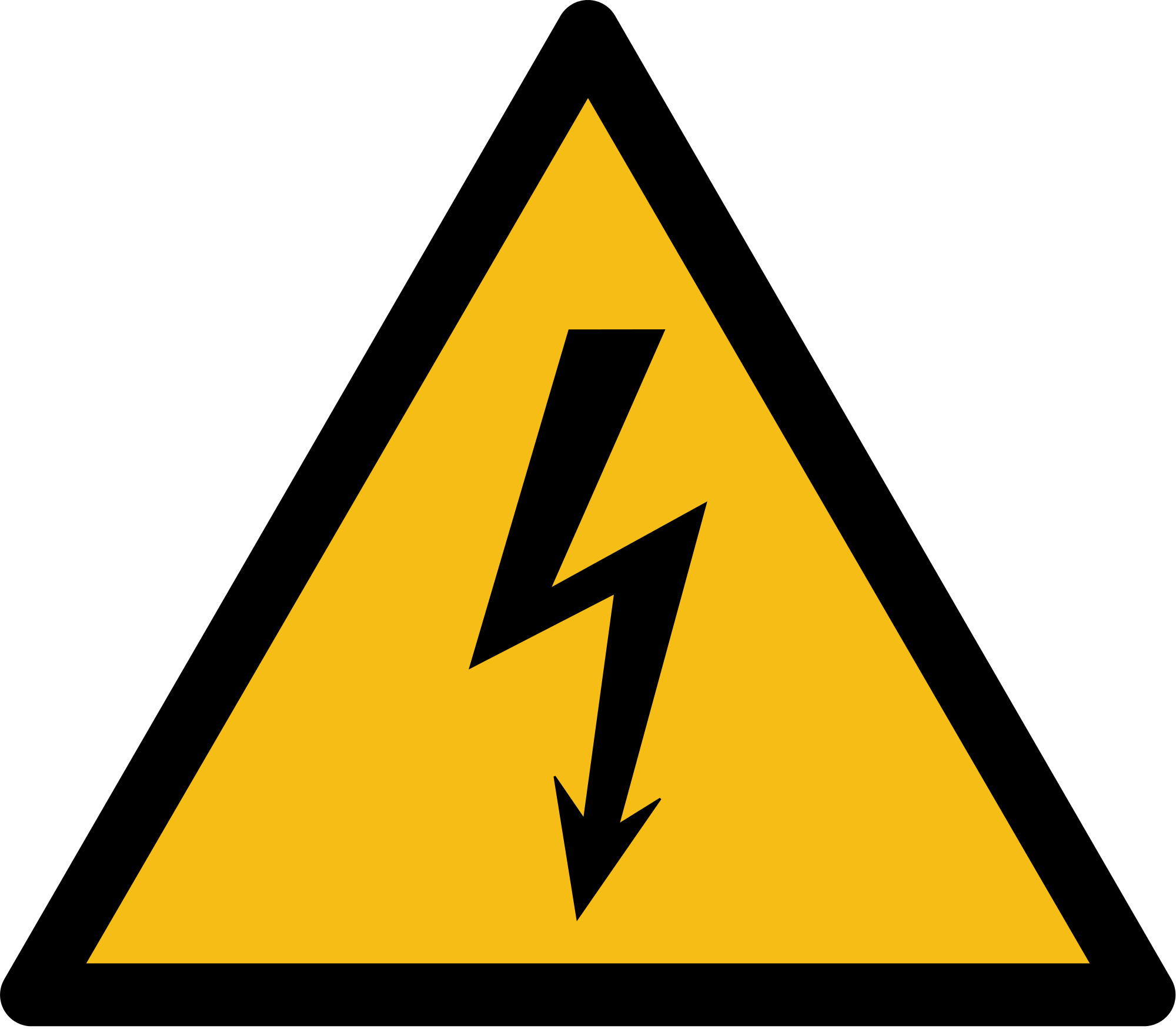 Electric clipart warning. File iso w svg