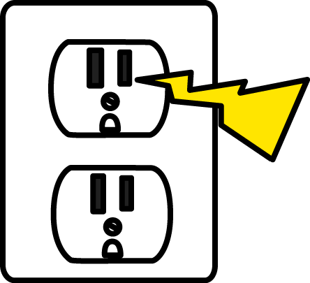 Image of electrical zap. Electricity clipart