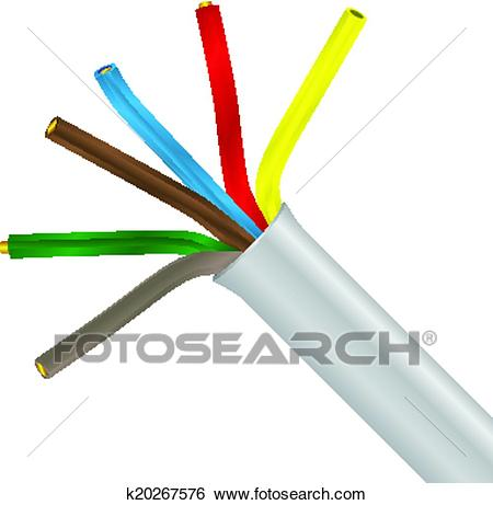 Network cable free on. Electrical clipart
