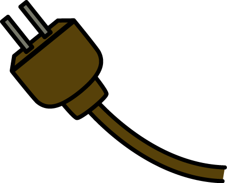Image of electrical symbols. Plug clipart extension