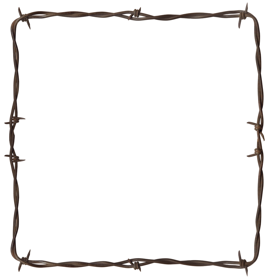 Barbed wire border png. Modern bob page borders