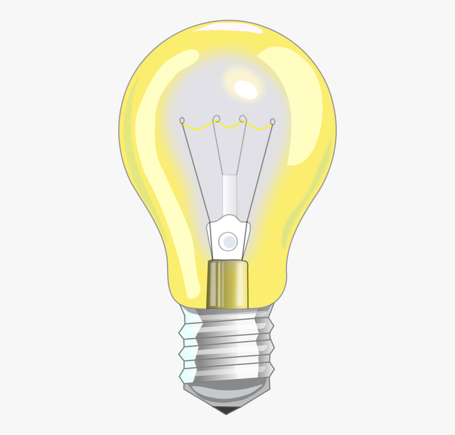 Incandescent light bulb led. Electrical clipart electric lamp