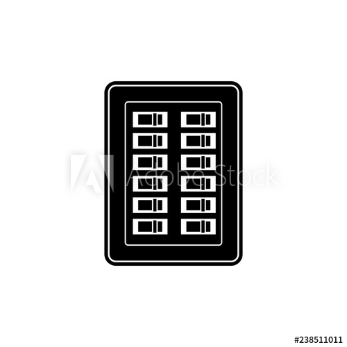 Electrician clipart breaker panel. Electrical box silhouette icon