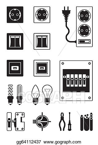 Vector art network devices. Electronics clipart electrical equipment