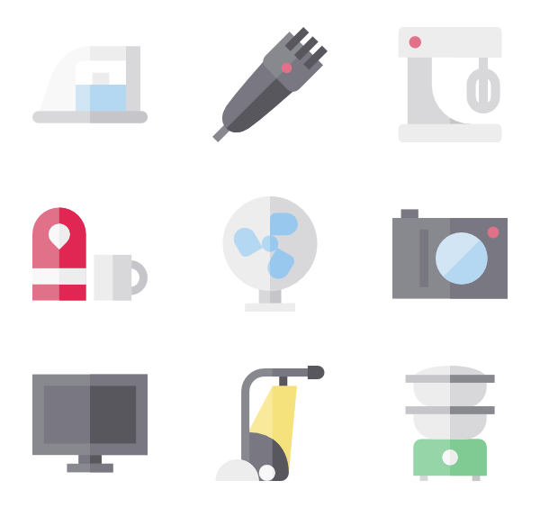 Appliance icons free vector. Electronics clipart home electronics