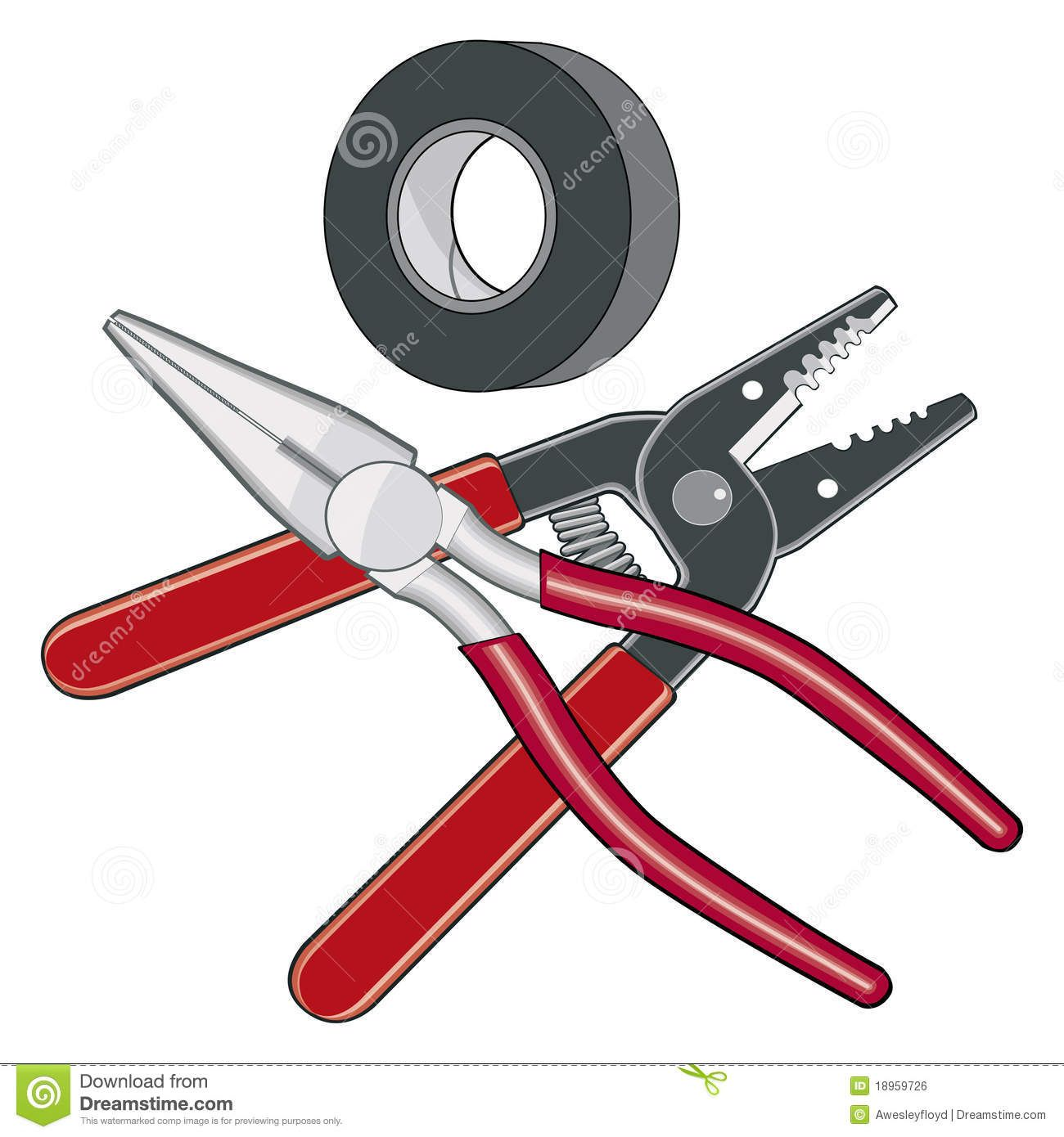 Electrical clipart electrical hand tool. Electrician tools logo royalty