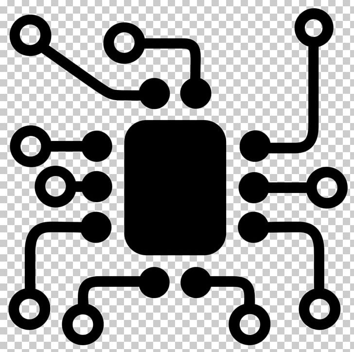 Electronics printed circuit board. Engineering clipart electronic engineering