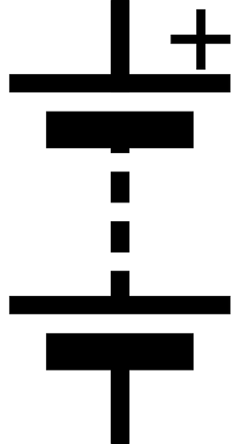 Fine cell circuit symbol. Electrical clipart fuse