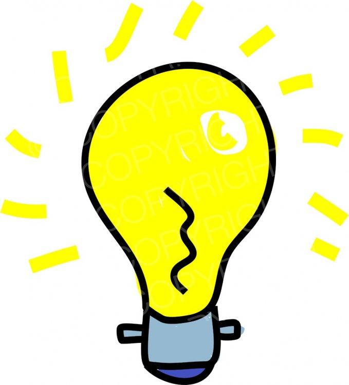 Electrical clipart glow. Cartoon glowing light bulb