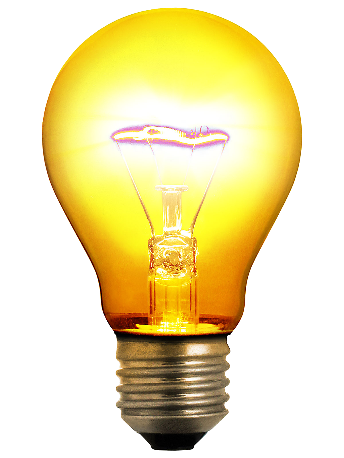 Glowing bulb clip art. Electrical clipart glow