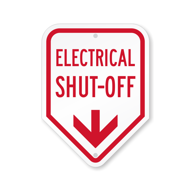 Electric shut off signs. Electrical clipart glow