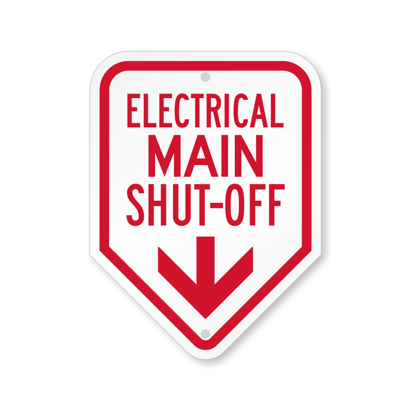 Electrical clipart glow. Electric shut off signs
