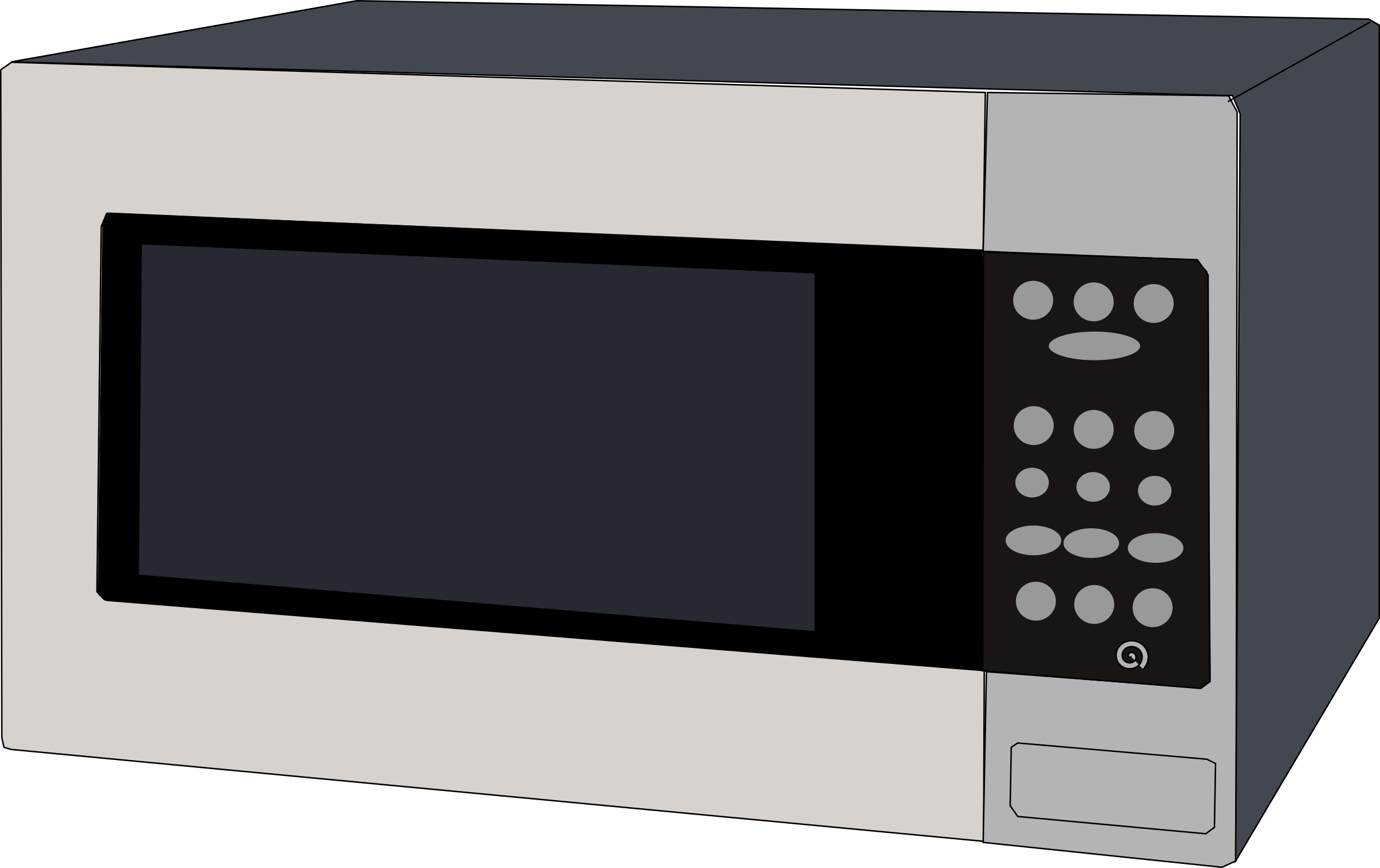 Microwave oven. Electrical clipart home appliance