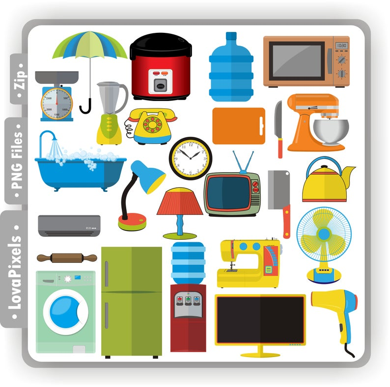 Electrical clipart home appliance. Appliances household png file