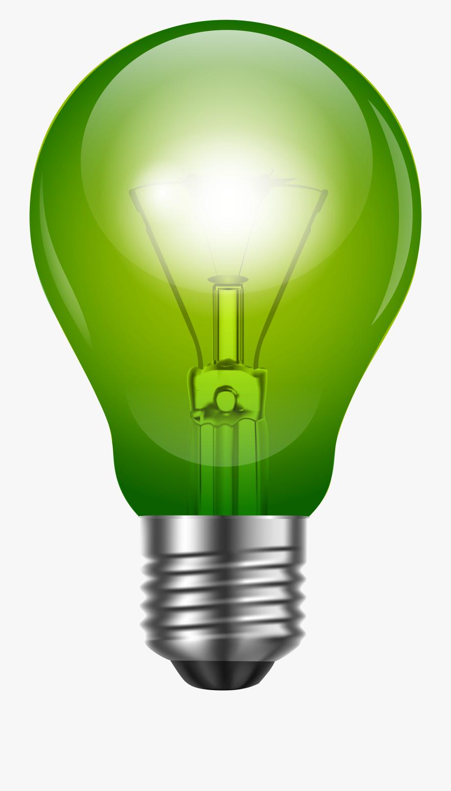 Electricity clipart lighting. Light bulb green clip