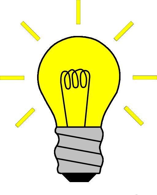 Light bulb clip art. Intelligent clipart fluorescent