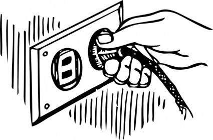 Image of clip art. Electrical clipart pull the plug
