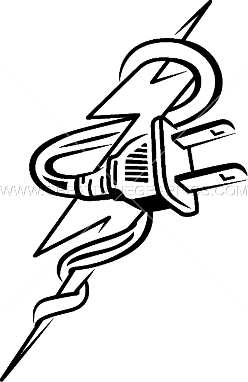 Plug drawing at getdrawings. Lightning clipart sketch