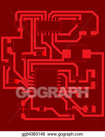 Vector art eps gg. Electrical clipart scheme