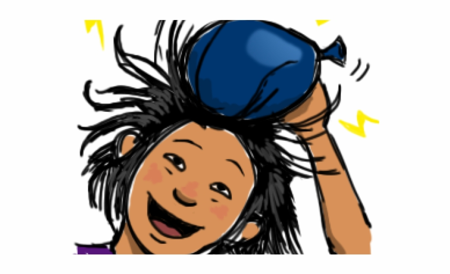 Electricity clipart static electricity. Electrical balloon hair