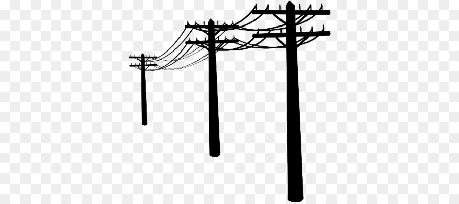 Electricity symbol tree cross. Electrical clipart telephone lineman