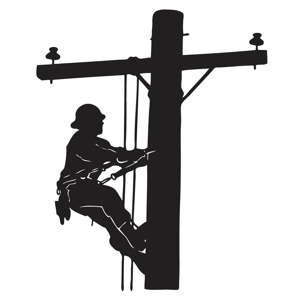 Electrical clipart telephone lineman. Free download best on
