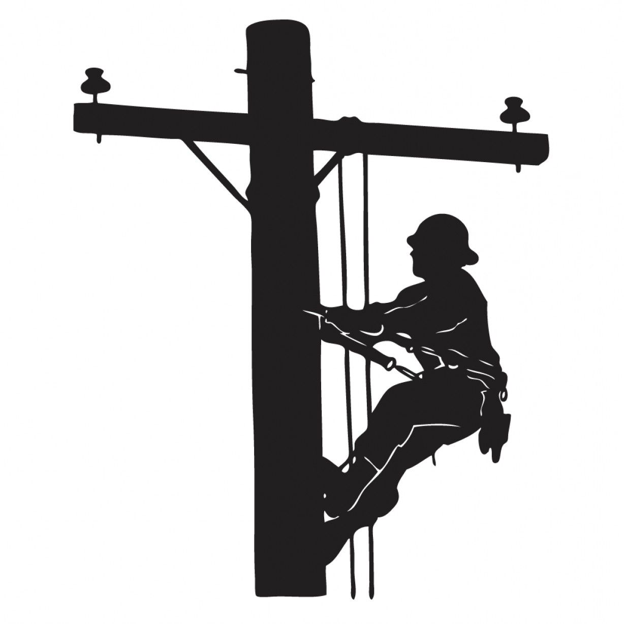 Image result for free. Electrical clipart telephone lineman